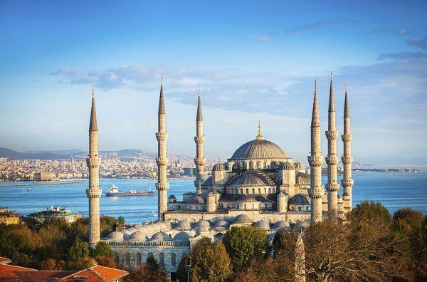 Blue Mosque alongside the Bosporus
