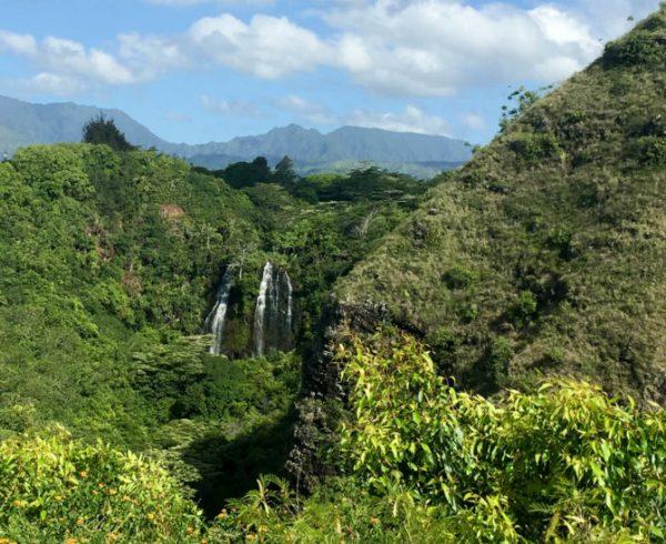 Opaekaa falls in Kauai HAWAII
