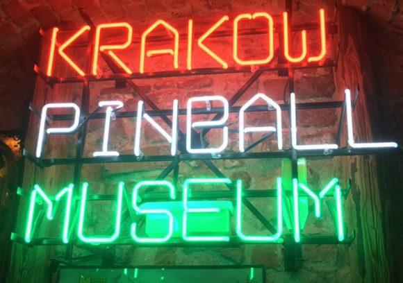 Krakow Pinball Museum sign