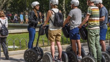 Segway Tour group in Madrid SPAIN