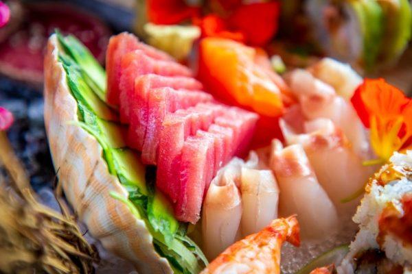 Variety of Tuna, Salmon, Scallop Nigiri