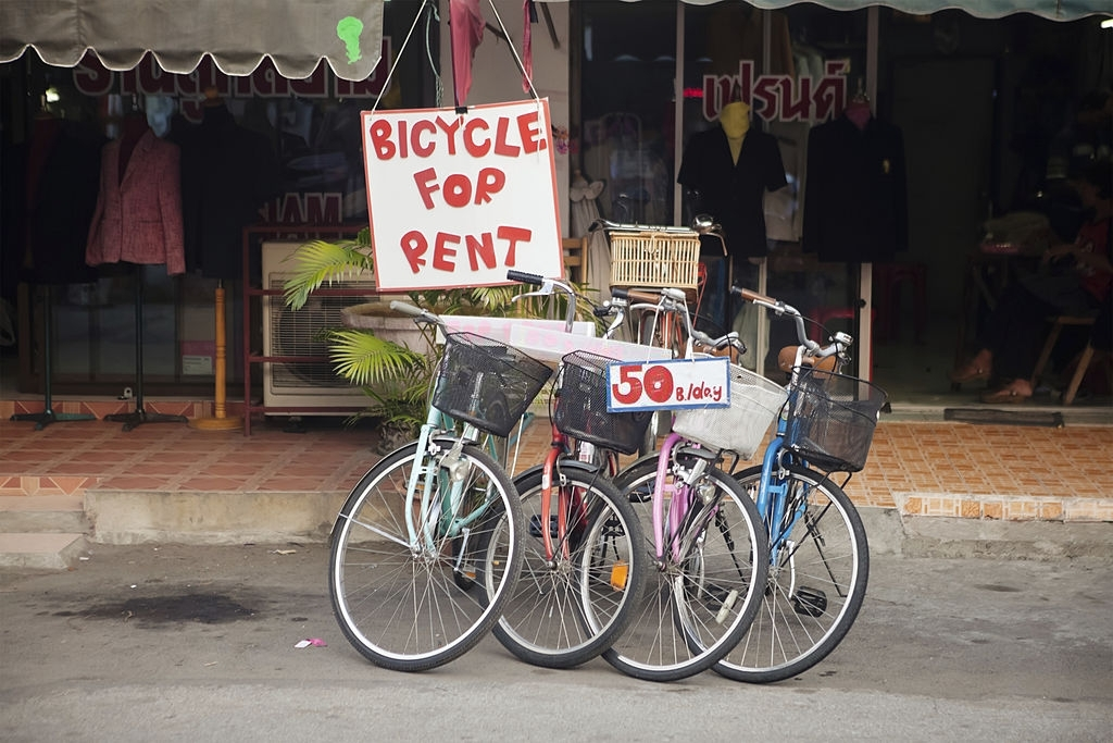 Bicycles for rent in Chiang Mai THAILAND