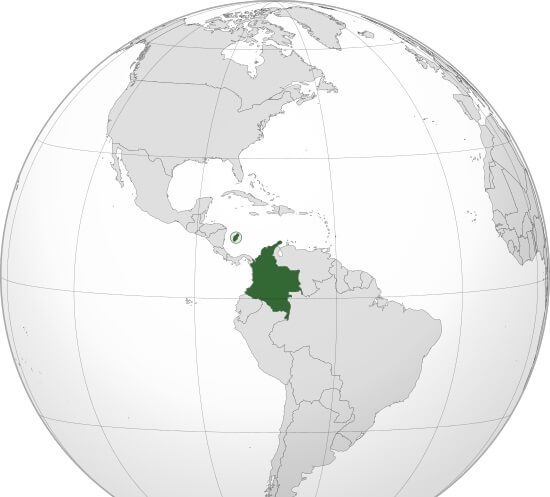 Where is Colombia Located?
