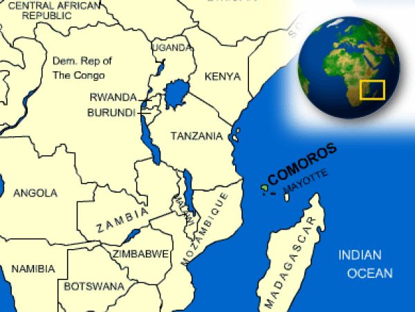 Where is Comoros Located?