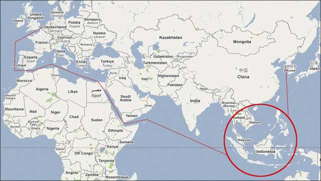 Where is Indonesia Located?