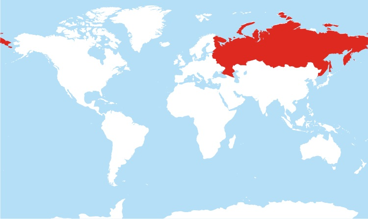 Where is Russia Located?