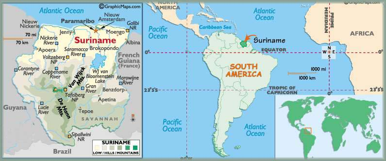 Where is Suriname Located?
